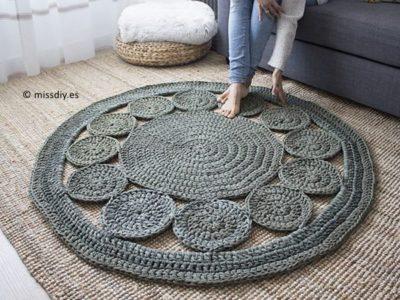 crochet Alfombra Circles Rug free pattern