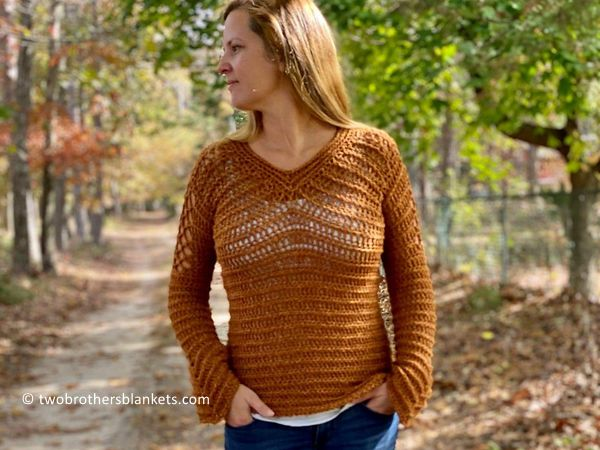 crochet Aphrodite Pullover free pattern