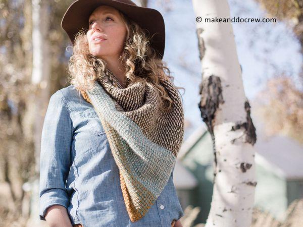 crochet Brushland Wrap free pattern