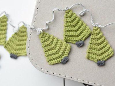 crochet Christmas Tree Garland easy pattern