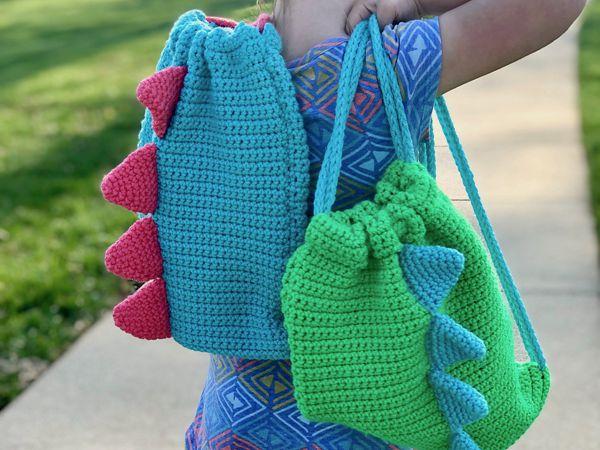 crochet Dino Backpack free pattern
