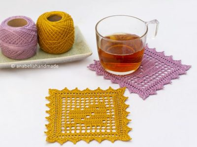 crochet Fall leaf coasters free pattern