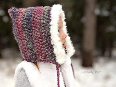 crochet Faux Fur Hood free pattern