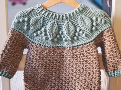 crochet Harvest Sweater easy pattern