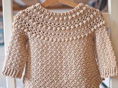crochet Jasmine Sweater free pattern