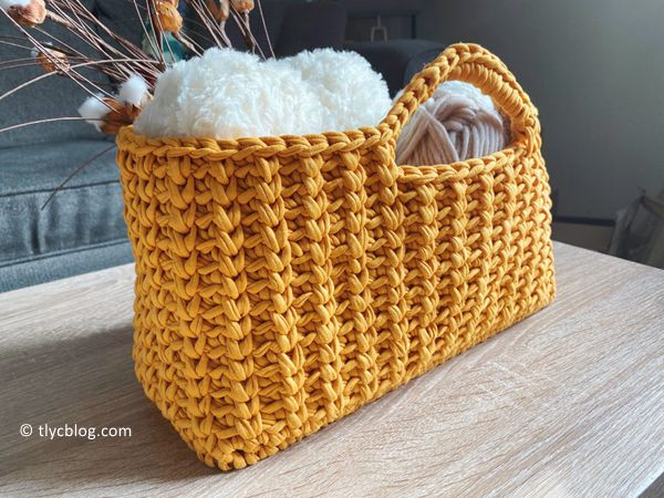 crochet Jenna Stash Basket free pattern