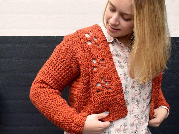 crochet Little Maple Cardi free pattern