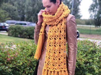 crochet Meiss Scarf easy pattern