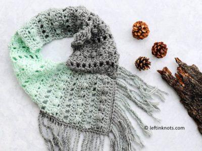 crochet Mint Twist Scarf free pattern