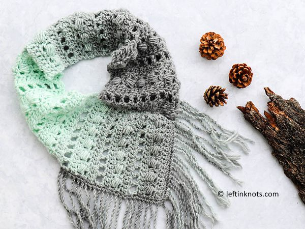 crochet Mint Twist Scarf free pattern