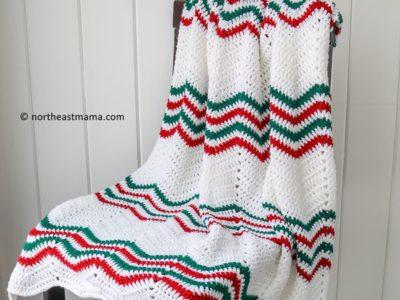 crochet Modern Holiday Throw free pattern