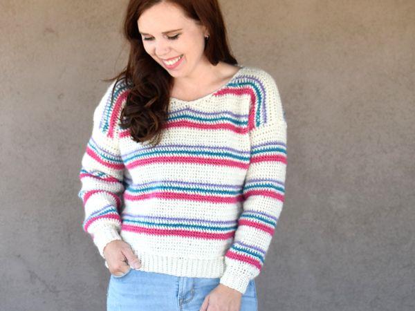 crochet Pulled Taffy Pullover free pattern