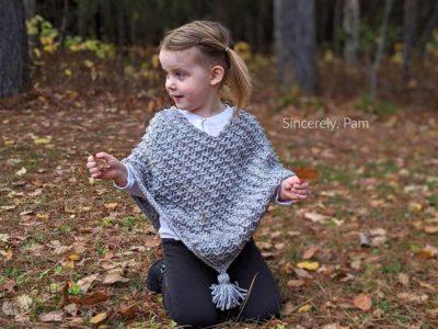 crochet Ragged Falls Poncho free pattern