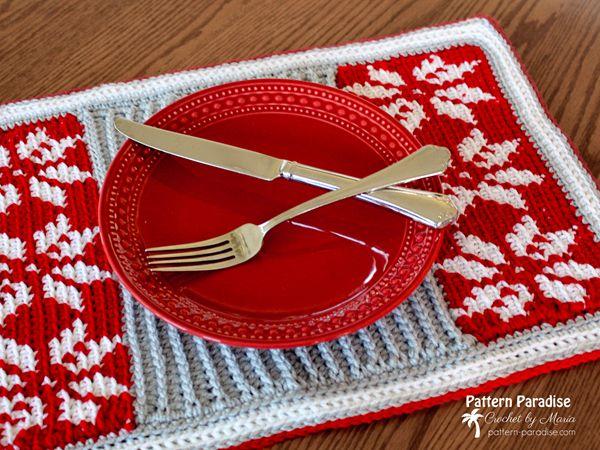 crochet Snowflake Placemat free pattern