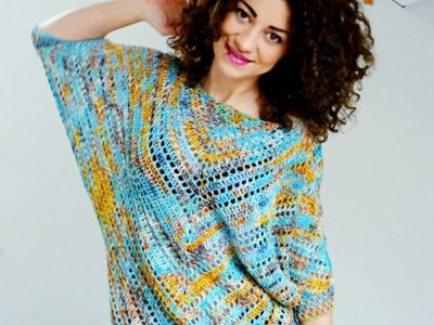 crochet Starry Night Blouse free pattern