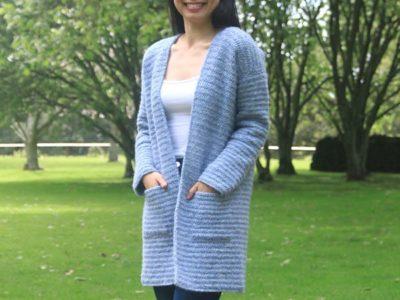 crochet Stonewash Pocket Coatigan free pattern