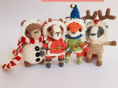 crochet Tiny Christmas Dinner Party easy pattern