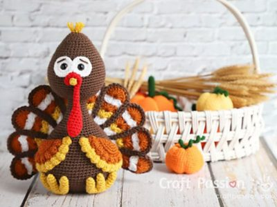 crochet Tutt Turkey Amigurumi free pattern