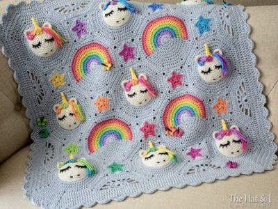crochet Unicorn Utopia Blanket easy pattern