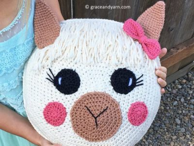 CROCHET Llama Pillow free pattern