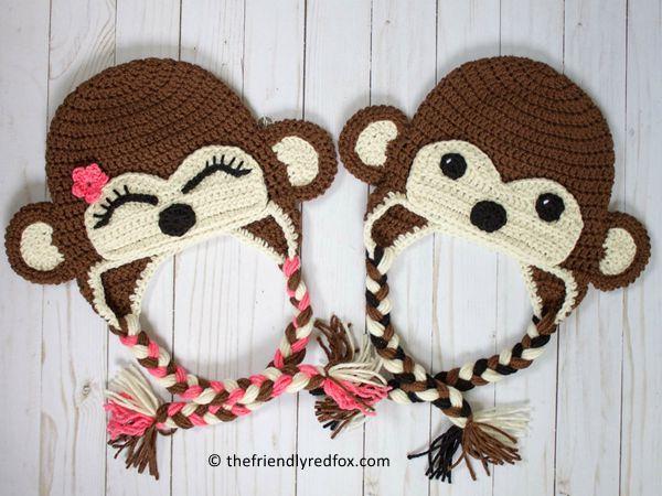 CROCHET Monkey Hat free pattern