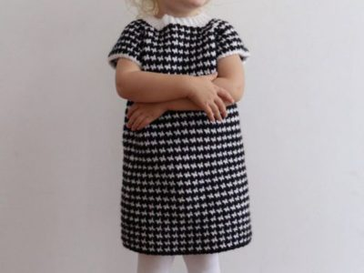 Crochet Houndstooth Sweater Dress free pattern