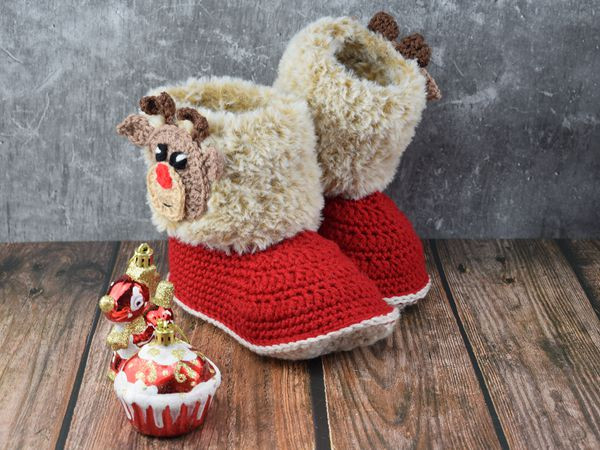 crochet Amelia Booties free pattern