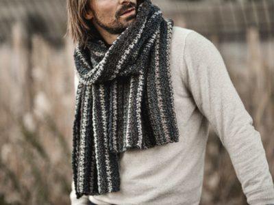 crochet Bernard Houndstooth Scarf free pattern