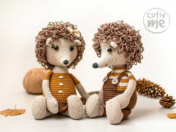 crochet Bob and Lola Hedgehogs easy pattern