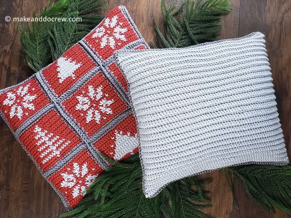 CHRISTMAS TAPESTRY CROCHET PILLOW