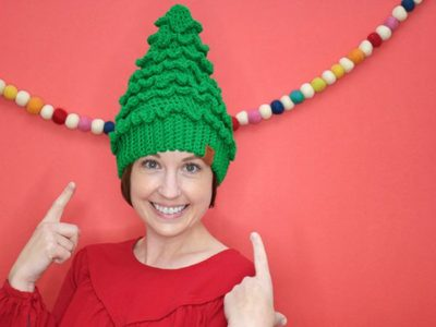 crochet Christmas Tree Hats free pattern