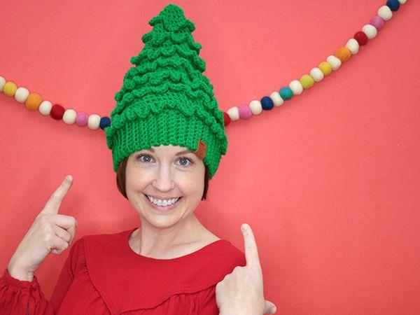 crochet Christmas Tree Hats free pattern