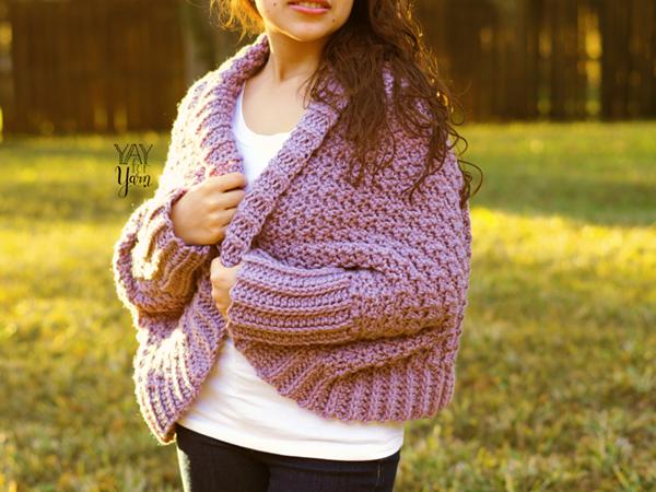 crochet Cuddle Cardigan free pattern