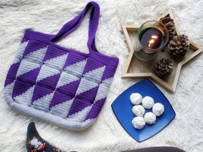 crochet Divine Diamonds Bag free pattern
