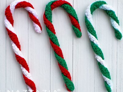 crochet Easy Candy Cane free pattern