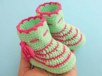 crochet Latest Easy Baby Booties free pattern