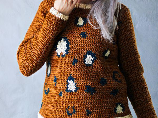 crochet Lees Leopard Print Pullover free pattern