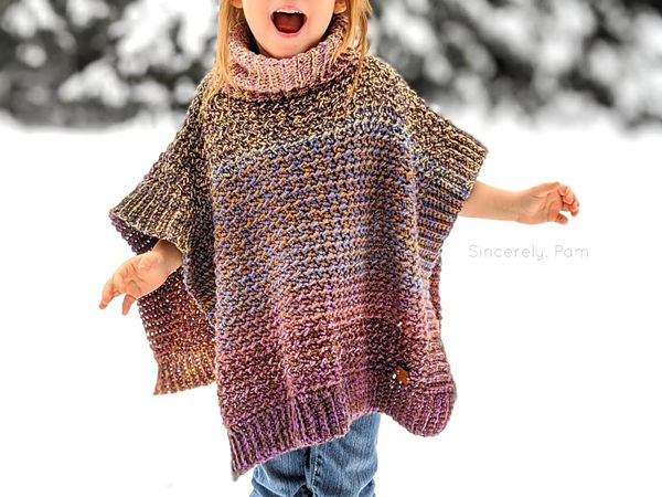 crochet Lucky Penny Poncho free pattern