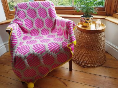 crochet Neon Fizz Throw easy pattern