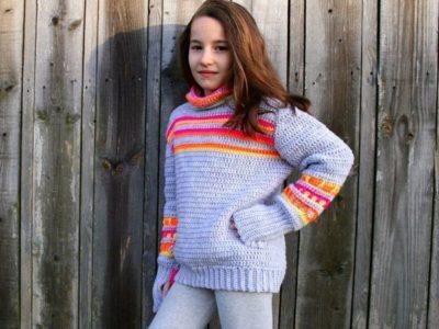 crochet Neon pullover easy pattern