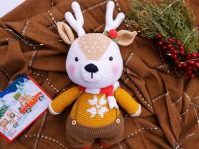 crochet Prancer BIG Reindeer easy pattern