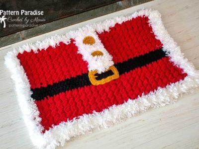 crochet Santa Rug free pattern
