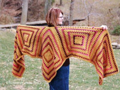 crochet Sedona Ruana free pattern