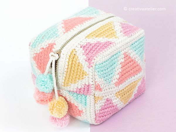 crochet Tapestru CUBE free patern