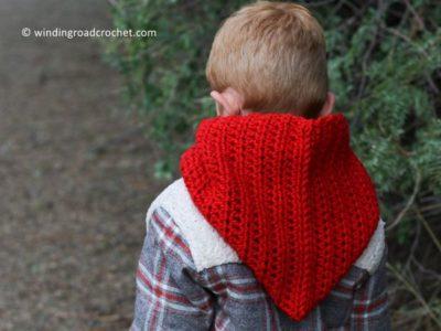 crochet Windy Day Hooded Cowl free pattern