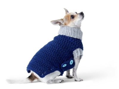CROCHET DOG COAT free pattern