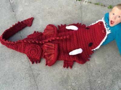 Crochet Dragon Blanket easy Pattern