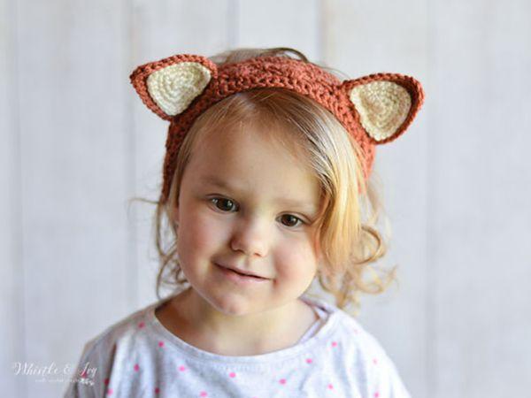 crochet Animal Ear Headbands free pattern