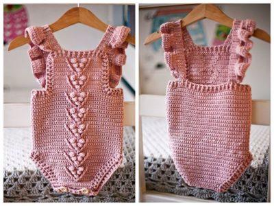 crochet Berry Romper free pattern