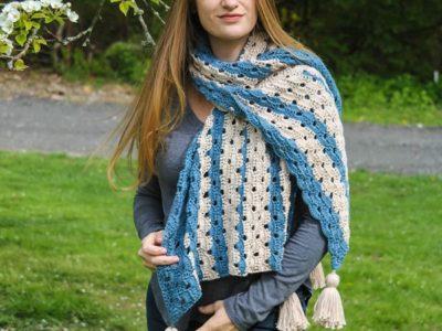 crochet Bondi Shawl free pattern